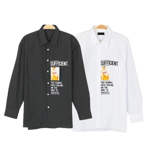 리즈코 프린트 남자셔츠