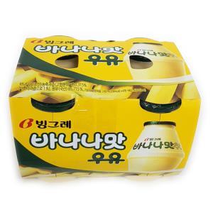 [공산] 빙그레바나나맛우유 240ml*4개입